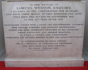 S W PLAQUE INSCRIPTION 1280