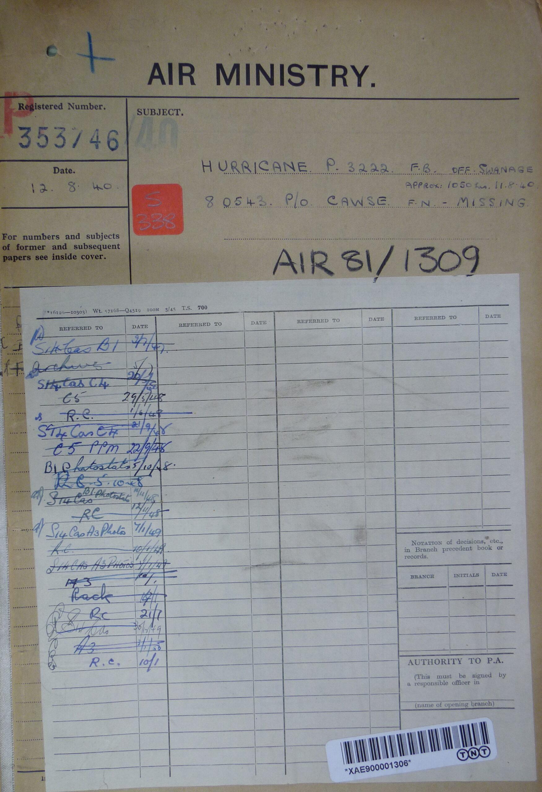 Hawker Hurricane P3222 1